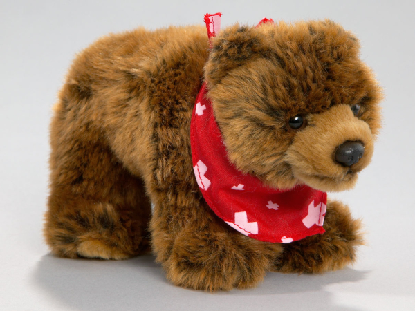 Bear Brown Bear with Scarf