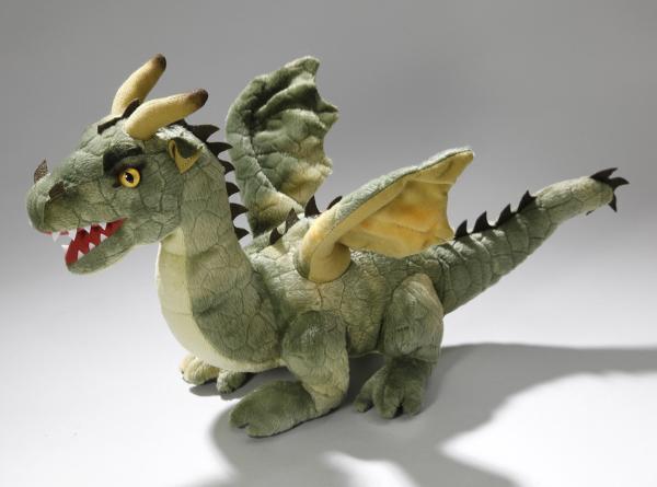 Dragon sitting green