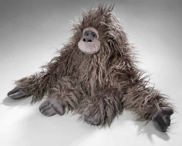 Affe, Zottelaffe mit Klett