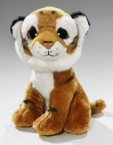 Tiger braun Baby sitzend mit großen Augen