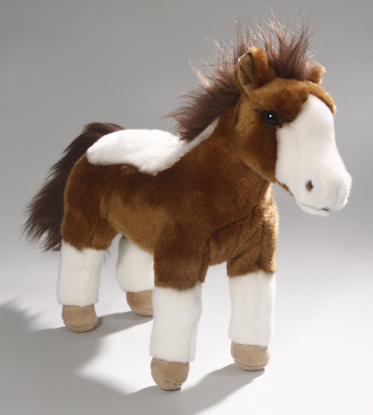 Horse standing brown-white