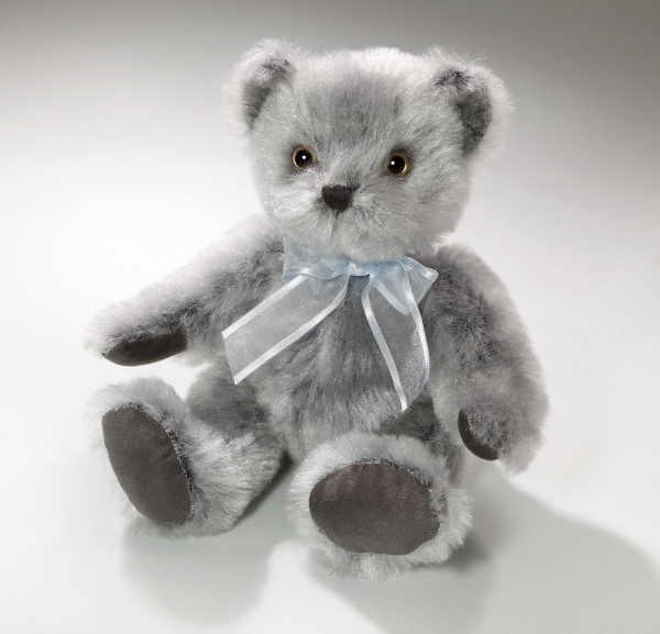 Teddy Bear nostalgic style with Bow in turquoise and white