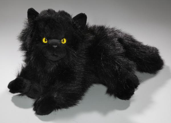 Katze liegend Perserkatze schwarz