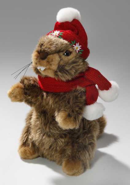 Marmot with Scarf, Hat and Yodel Sound