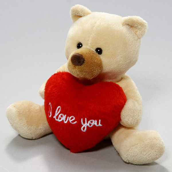Teddy Bear with Heart beige