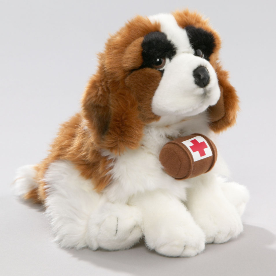 St. Bernard Dog with Barrel