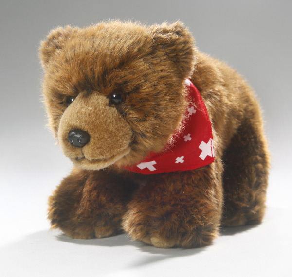 Bear Brown Bear with Swiss Scarf