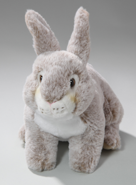 Rabbit Bunny with standing ears brown-creme