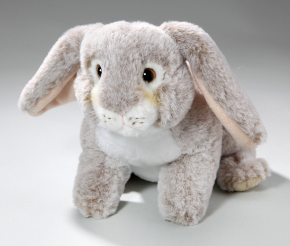 Rabbit Bunny with hanging ears brown-creme