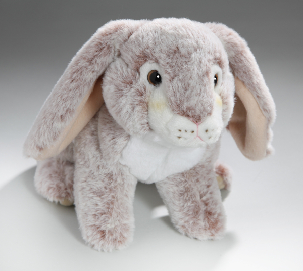 Rabbit Bunny with hanging ears red-creme