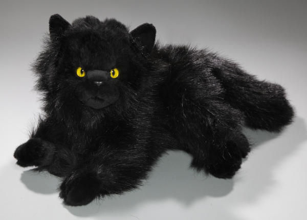 Cat, Persian lying black