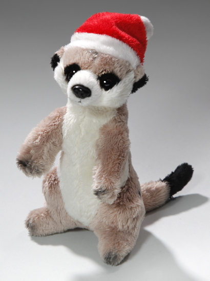 Meerkat with Christmas cap