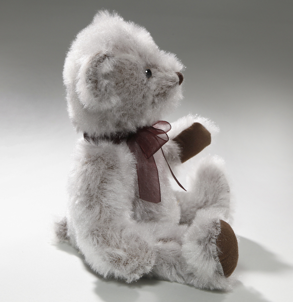 Teddy Bear nostalgic style with Bow in ruby red