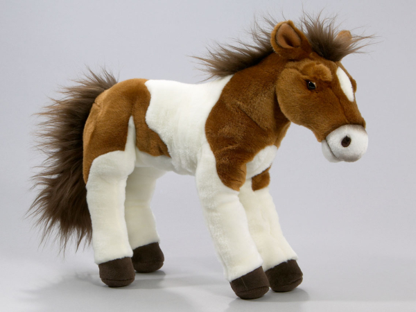 Horse brown-white